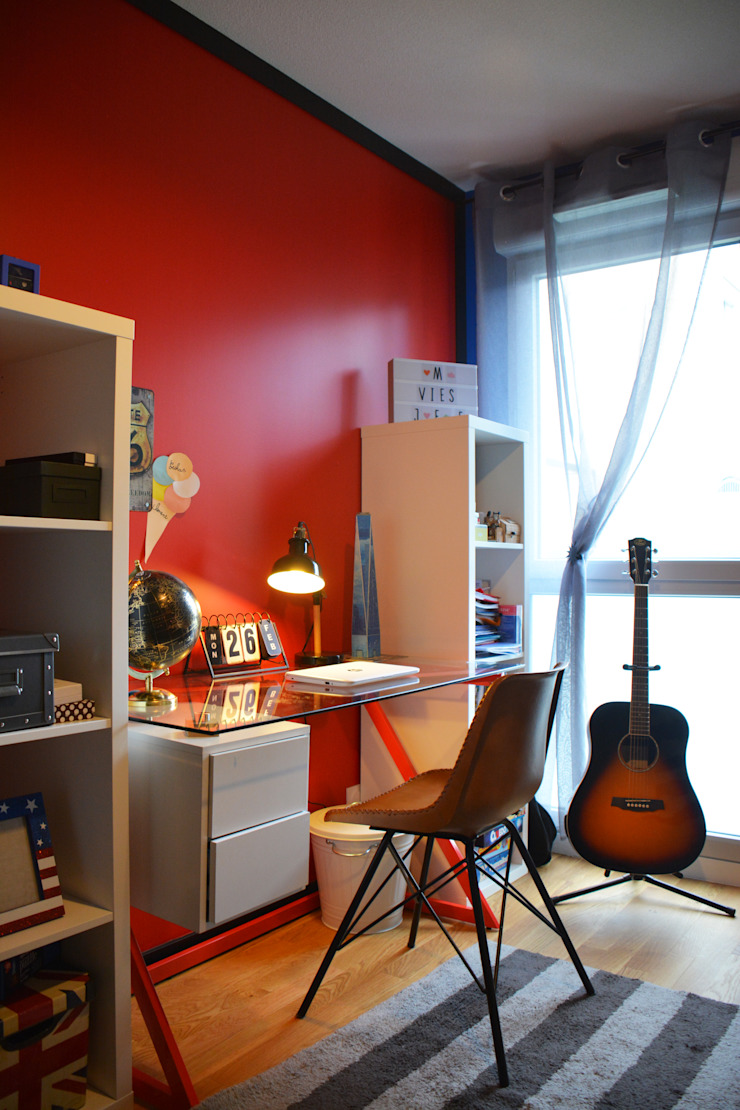 Décoration d'un appartement neuf à Lyon par Koya Architecture Intérieure Industriel Verre