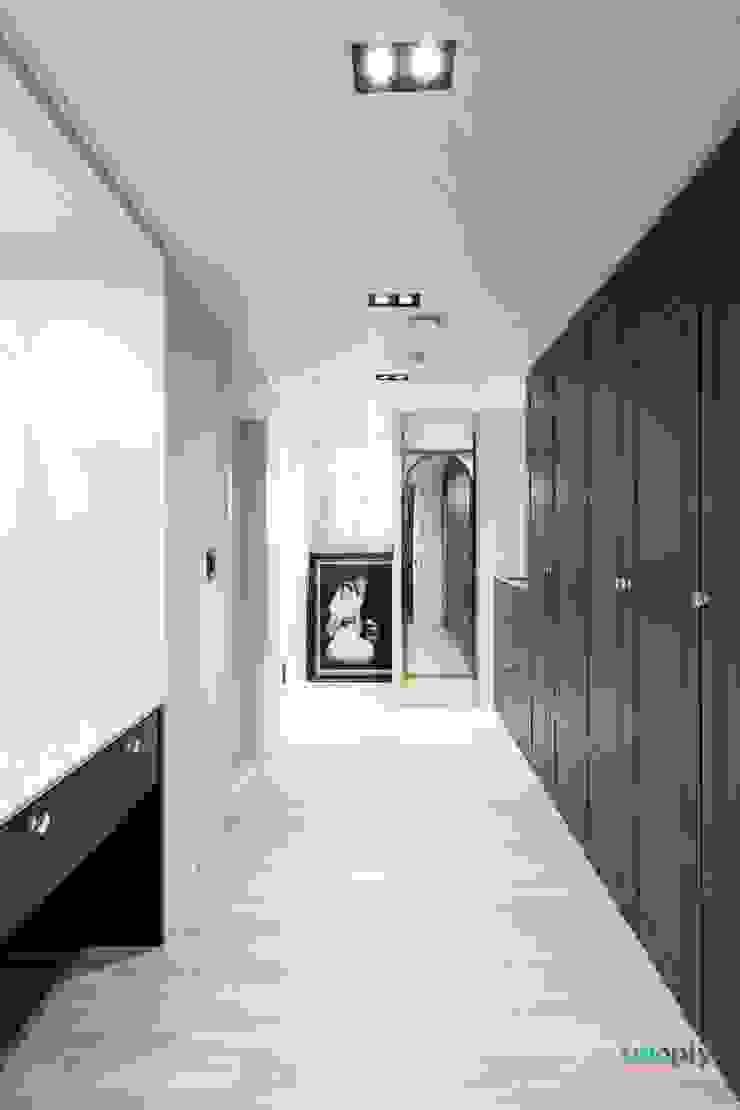익산인테리어 익산 포스코 더샵 40평대 아파트인테리어 by 디자인투플라이 모던스타일 드레싱 룸 by 디자인투플라이 모던