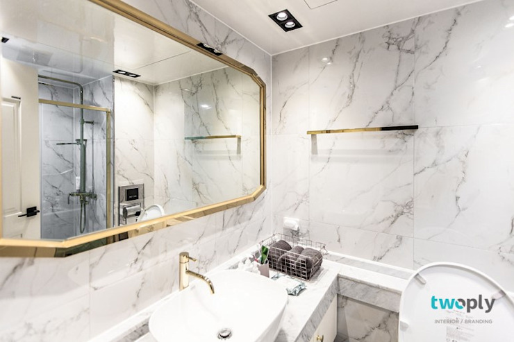 익산인테리어 익산 포스코 더샵 40평대 아파트인테리어 by 디자인투플라이 모던스타일 욕실 by 디자인투플라이 모던