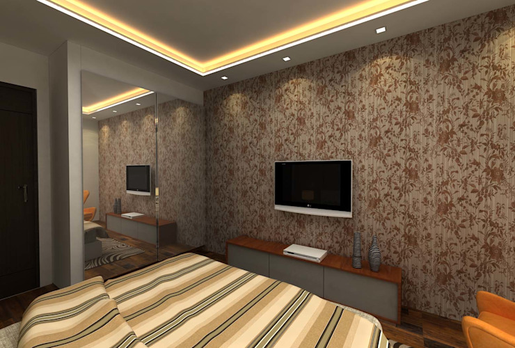 3BHK,Manish Nagar, Nagpur Modern style bedroom by Form & Function Modern