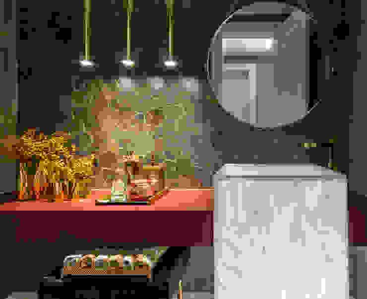 Modern Banyo Flávia Kloss Arquitetura de Interiores Modern Bakır/Bronz/Pirinç