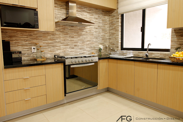 Built-in kitchens by AFG Construcción y Diseño