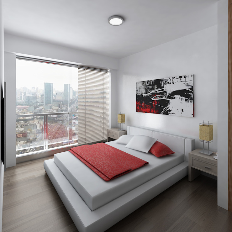 Residencial Aguarico: Dormitorios de estilo  por Prototype Arquitectos S.A.C.,