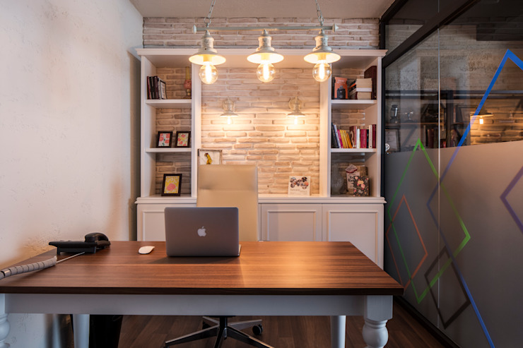 Industrial style office buildings by homify Industrial