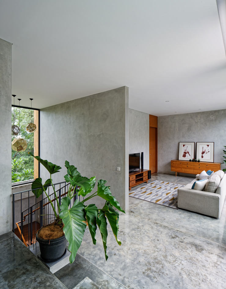 House of Inside and Outside by Tamara Wibowo Architects Tropical Concrete