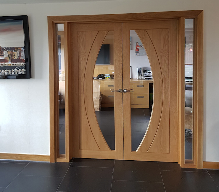 Bespoke Internal Room Divider: modern  by Modern Doors Ltd, Modern Wood Wood effect