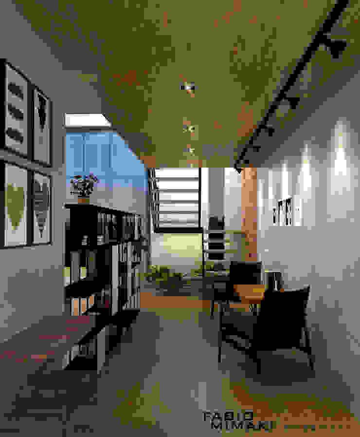 Salon industriel par Fabio Mimaki Arquitetura Industriel Béton