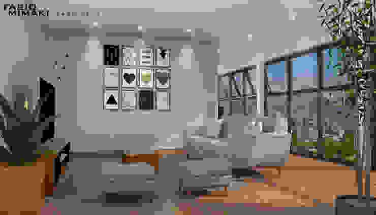 Salas de estilo minimalista de Fabio Mimaki Arquitetura Minimalista Concreto