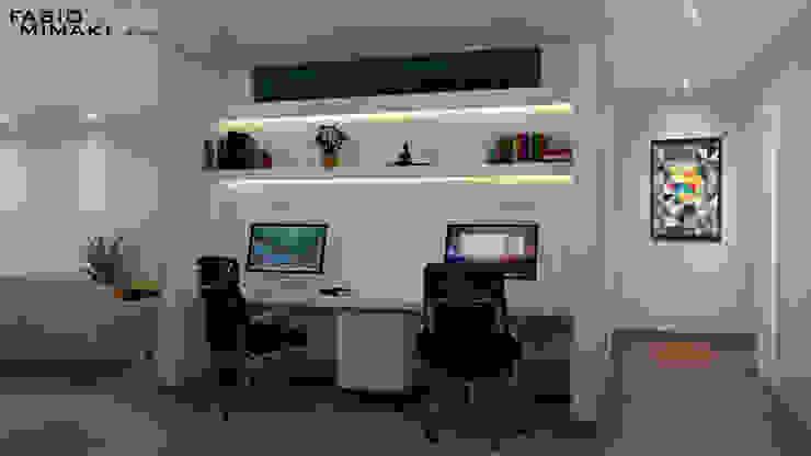Oficinas de estilo minimalista de Fabio Mimaki Arquitetura Minimalista Concreto