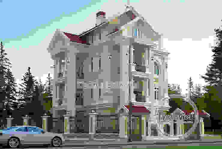 Phối cảnh thiết kế biệt thự 4 tầng kiểu Pháp Tân cổ điển lộng lẫy ( CĐT: Ông Tiến - Bắc Ninh) KT16131 bởi Công Ty CP Kiến Trúc và Xây Dựng Betaviet