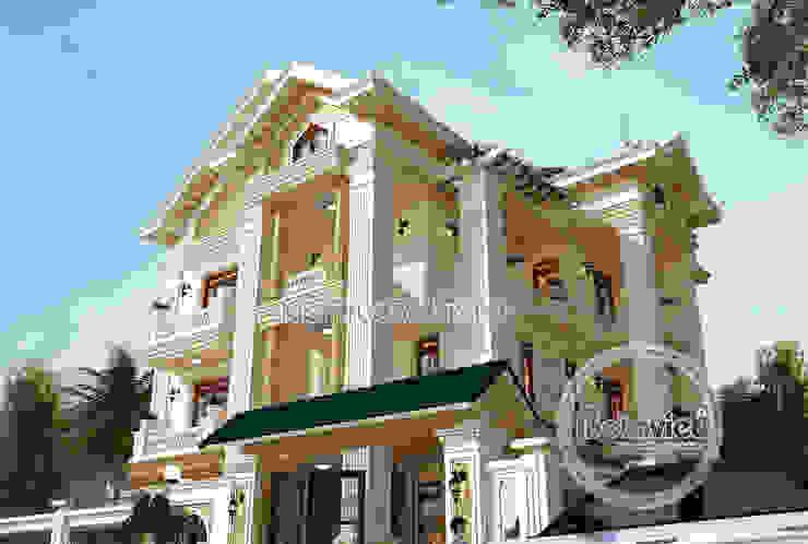 Phối cảnh mẫu biệt thự kiểu Pháp Tân cổ điển 3 tầng ( CĐT: Ông Hiếu - Hồ Chí Minh) KT17066 bởi Công Ty CP Kiến Trúc và Xây Dựng Betaviet