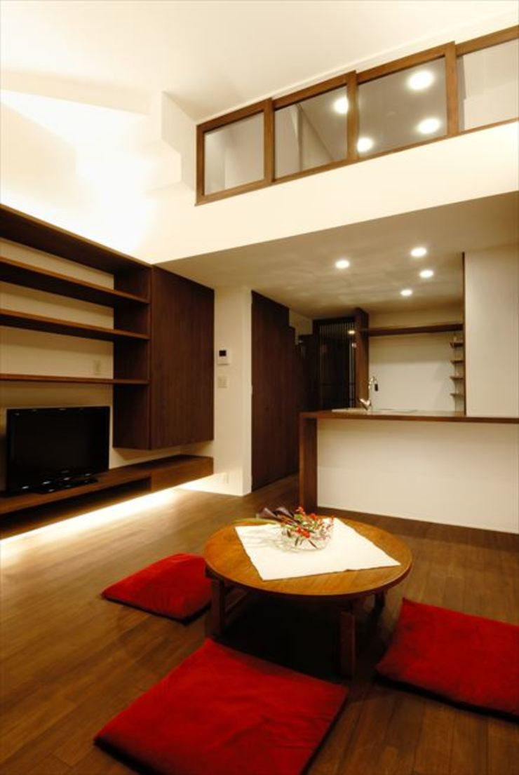 Asian style living room by nest Asian
