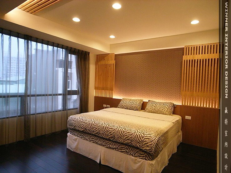 臥室 Asian style bedroom by 贏特室內裝修工程有限公司 Winner Interior Design Asian