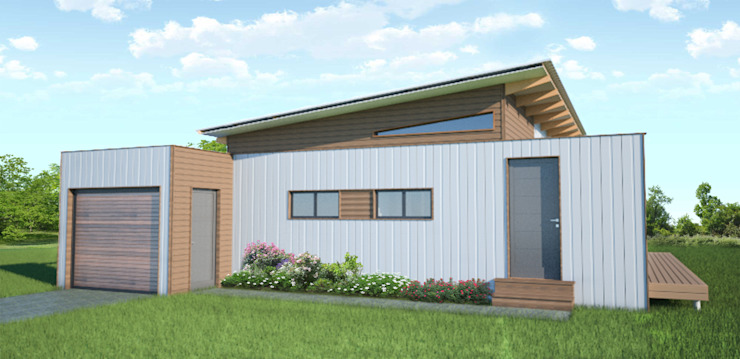 R660 015 (2 bedroom & 1 bathroom) Modular modern house - available to the local and export market. by Greenpods