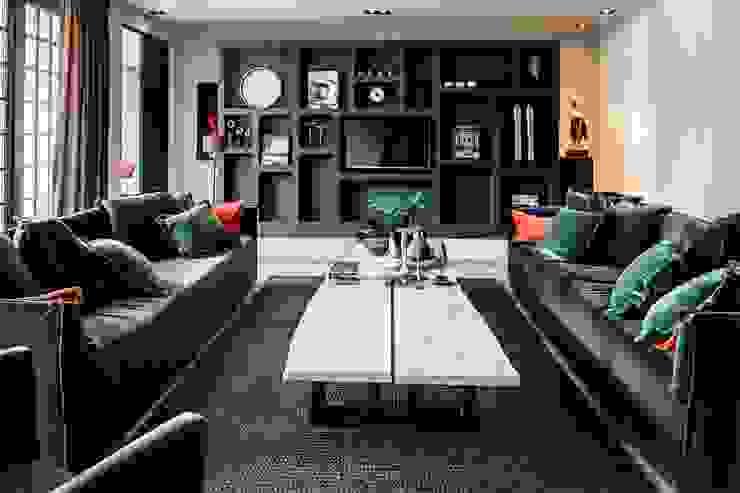 tv kamer Landelijke woonkamers van Studio FLORIS Landelijk