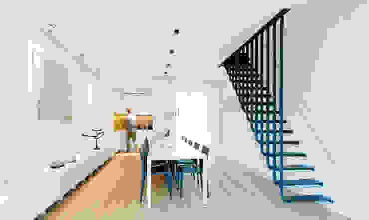 Woonhuis Prinsengracht Moderne eetkamers van Bas Vogelpoel Architecten Modern IJzer / Staal