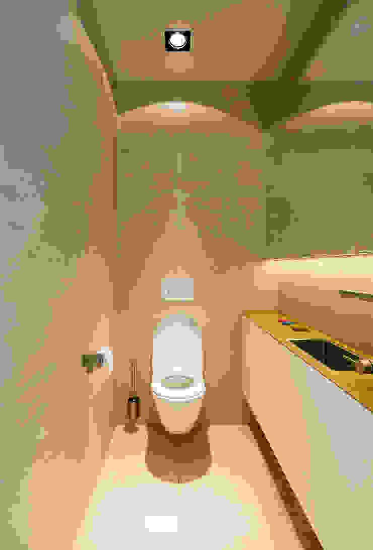 Woonhuis Prinsengracht Moderne badkamers van Bas Vogelpoel Architecten Modern Tegels