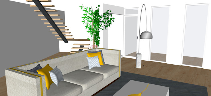 Modern living room by ORCHIDS LOFT by Alexandra Pedro Modern Wood Wood effect