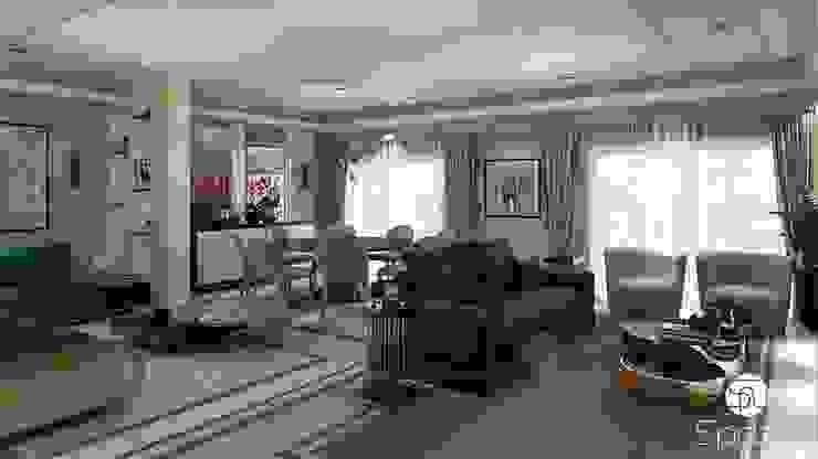 Modern living room Interior design Modern Living Room by Spazio Interior Decoration LLC Modern