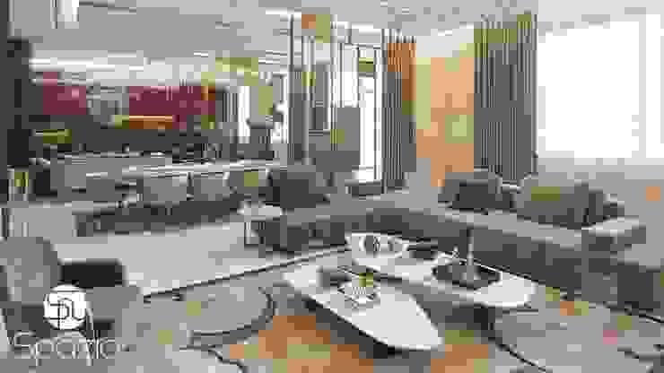 Modern Luxury Living room Interior Design for a large villa Modern Living Room by Spazio Interior Decoration LLC Modern
