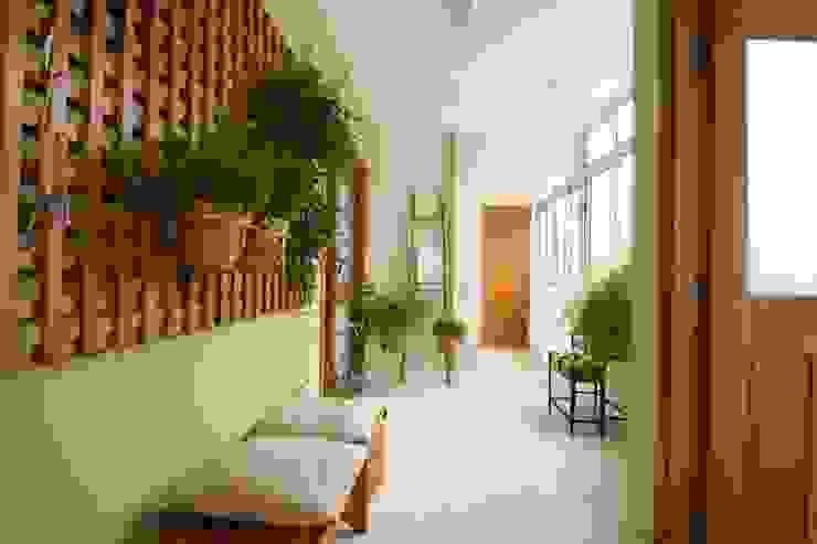 TS Projetos Jardines de invierno de estilo clásico Madera maciza Verde