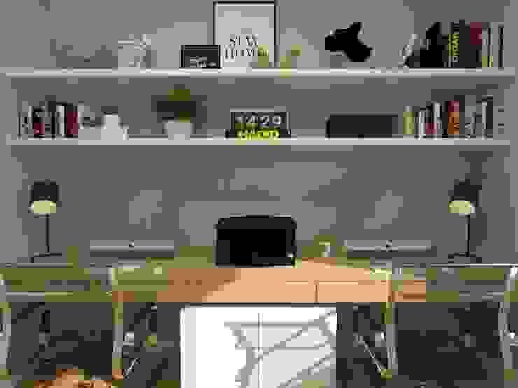 Home Office - APT NR: Escritórios  por Arching - Arquitetos Associados