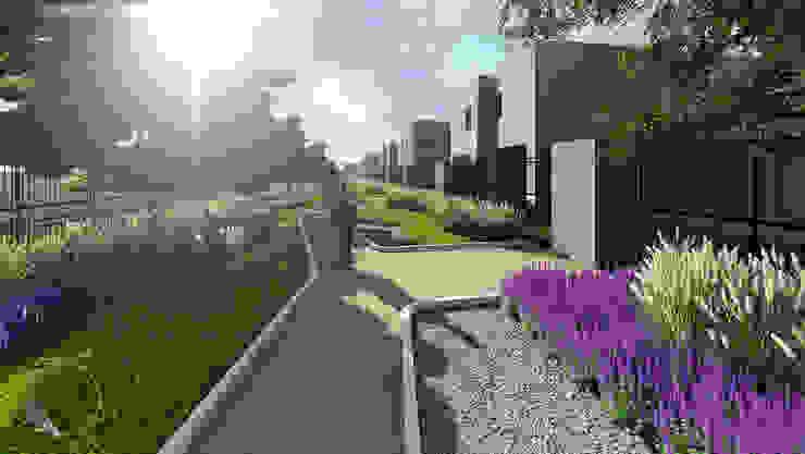 detalle parque de Verde Lavanda Moderno Madera Acabado en madera