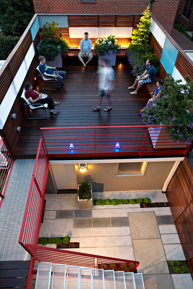 E Street Modern Terrace by KUBE architecture Modern