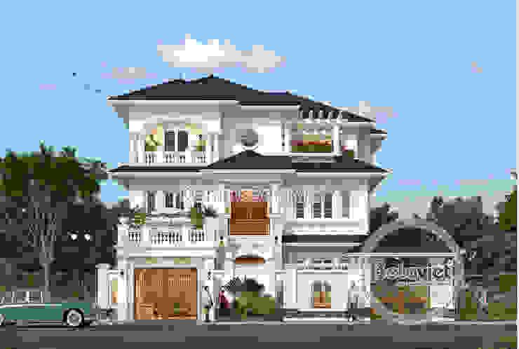 Phối cảnh mẫu thiết kế biệt thự đẹp 3 tầng châu Âu hoành tráng ( CĐT: Bà Mai - Hưng Yên) KT17114 bởi Công Ty CP Kiến Trúc và Xây Dựng Betaviet