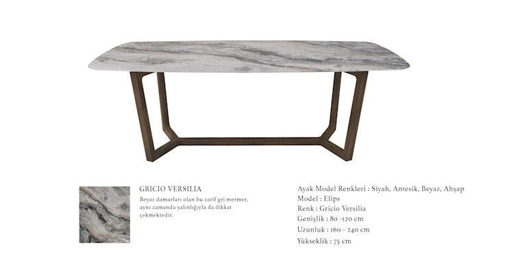 POLİMER DECOR Mermer Masa Mutfak Ve Banyo Tezgahları Uygulama Merkezi Living roomSide tables & trays Marble Grey