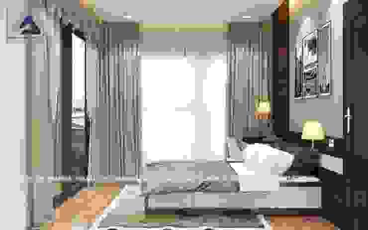 Thiết Kế Cải Tạo Căn Hộ 2 Phòng Ngủ – Tràng An Complex Phòng ngủ phong cách hiện đại bởi Thiết Kế Nội Thất CDmax Hiện đại