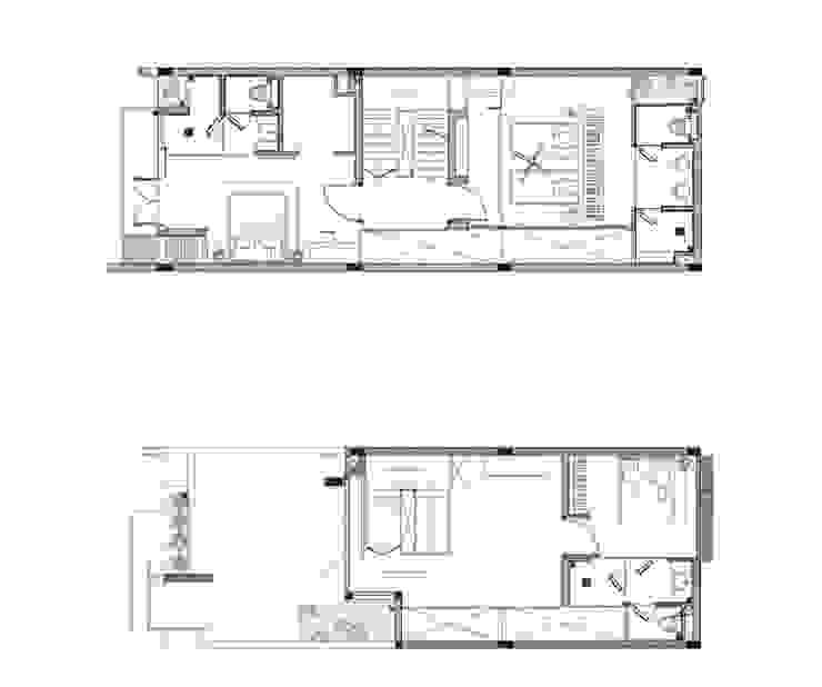 Bản vẽ thiết kế mặt bằng nhà phố 4 tầng. bởi Công ty TNHH TK XD Song Phát Hiện đại Đồng / Đồng / Đồng thau