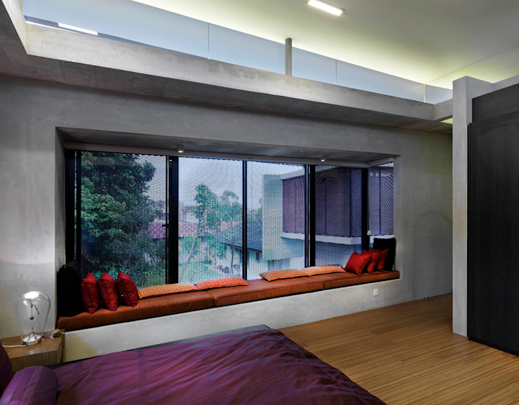 Master Bedroom Alcove MJ Kanny Architect Modern style bedroom