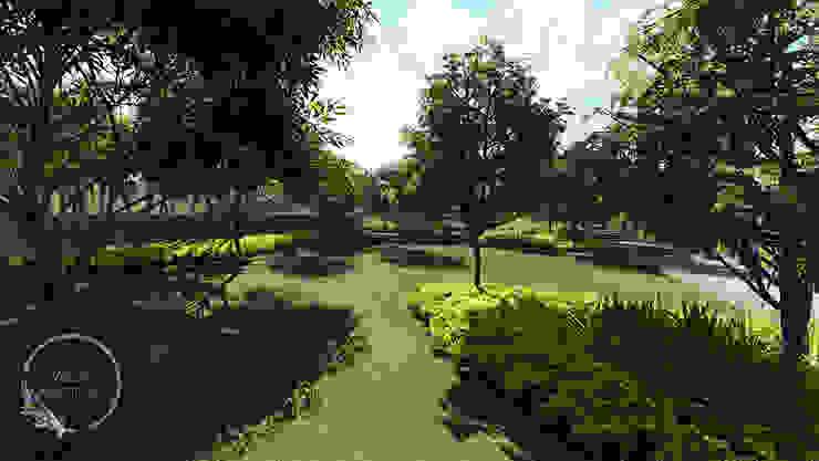 Verde Lavanda Modern garden Wood Green