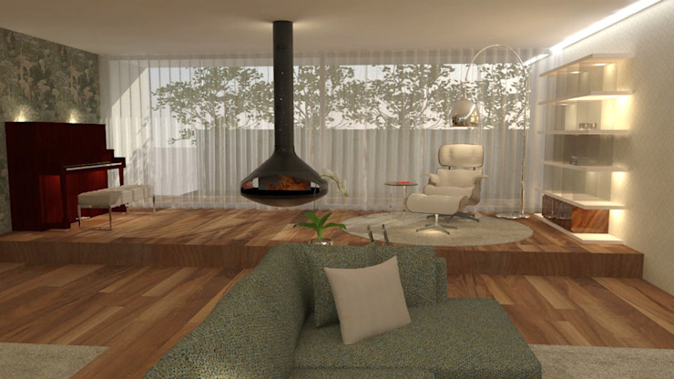 Living room by Casactiva Interiores, Modern Wood Wood effect