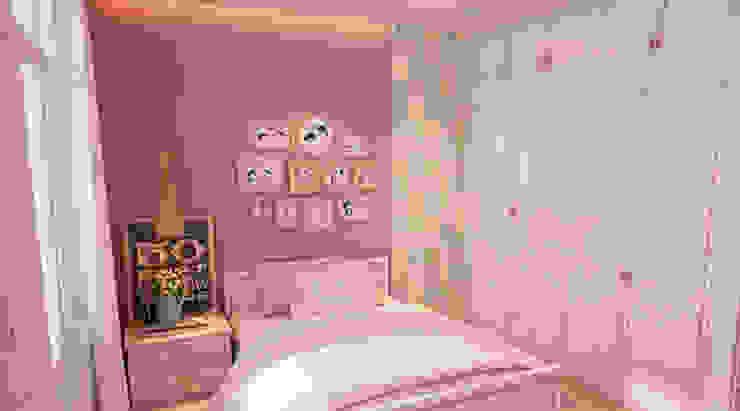 Mẫu Thiết Kế Nhà Phố 4 Tầng 4,3x20m Kết Hợp Ở Và Kinh Doanh Phòng ngủ phong cách hiện đại bởi Công ty TNHH Xây Dựng TM – DV Song Phát Hiện đại