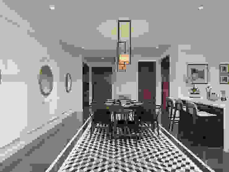 Thiết kế nội thất Vinhomes Central Park – Phong cách Đông Dương Phòng ăn phong cách châu Á bởi ICON INTERIOR Châu Á