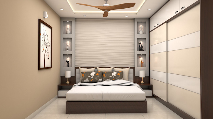 Kinthali Manoj Modern style bedroom by ARK Architects & Interior Designers Modern