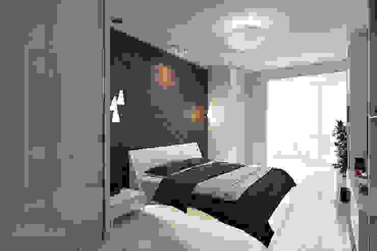 Спальня в современном стиле в ЖК Алые Паруса Спальня в стиле модерн от Технологии дизайна Модерн