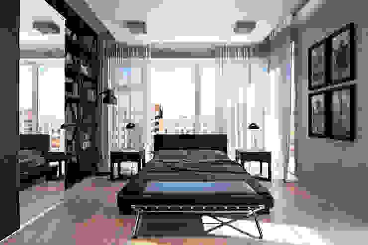 Спальня в современном стиле на ул. Машиностроения Спальня в стиле модерн от Технологии дизайна Модерн