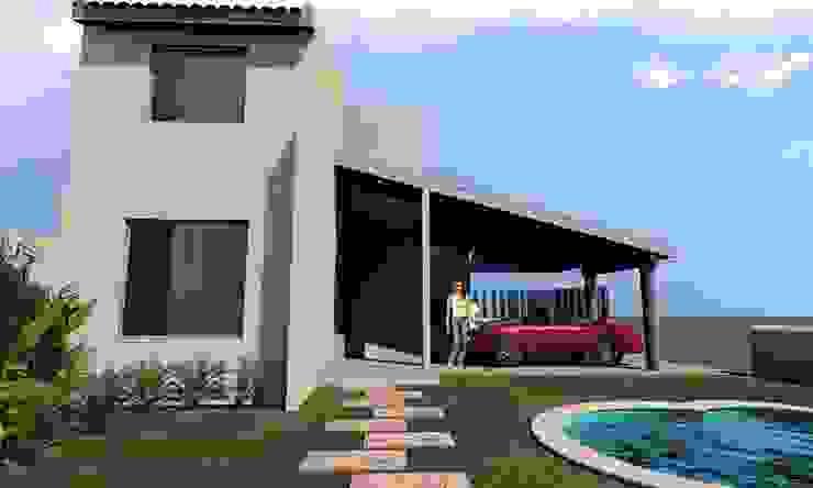 by SG Huerta Arquitecto Cancun Mediterranean Bricks
