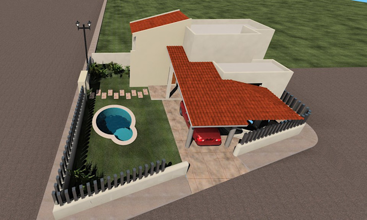 by SG Huerta Arquitecto Cancun Mediterranean Concrete