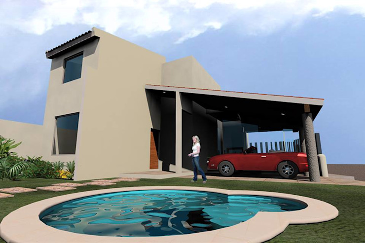 Mediterranean style house by SG Huerta Arquitecto Cancun Mediterranean Reinforced concrete