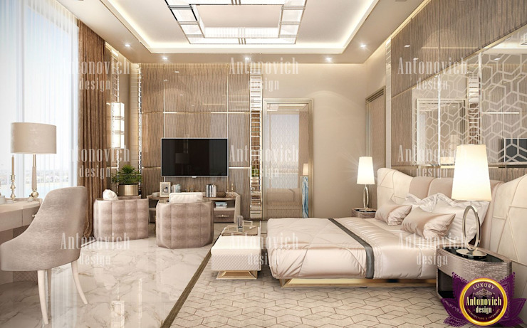 ​Home design styles of Katrina Antonovich Modern style bedroom by Luxury Antonovich Design Modern