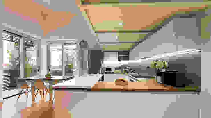 Annalisa Carli Scandinavian style kitchen Wood Multicolored