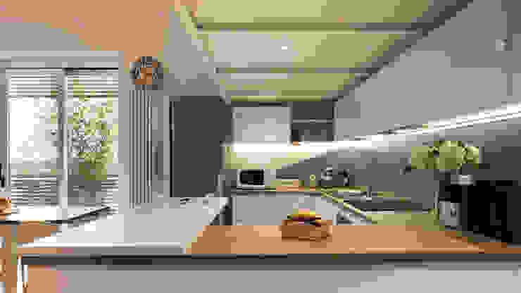 Annalisa Carli Scandinavian style kitchen Wood Turquoise