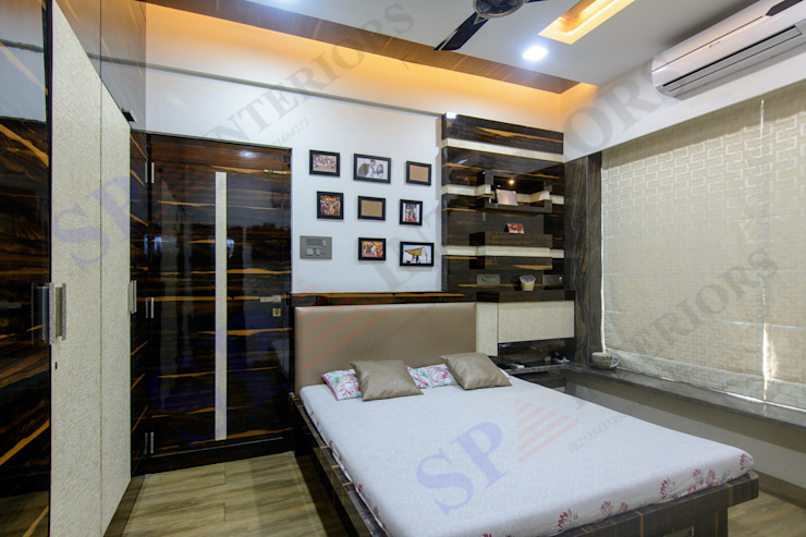 Bhadresh Jhaveri Modern style bedroom by SP INTERIORS Modern