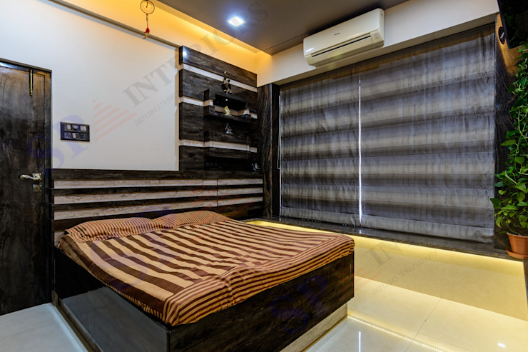 VarunJhaveri Modern style bedroom by SP INTERIORS Modern