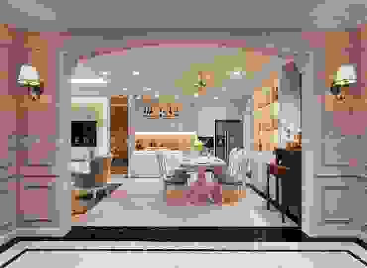 Thiết kế nội thất phong cách TÂN CỔ ĐIỂN cùng căn hộ Vinhomes Central Park Phòng ăn phong cách kinh điển bởi ICON INTERIOR Kinh điển