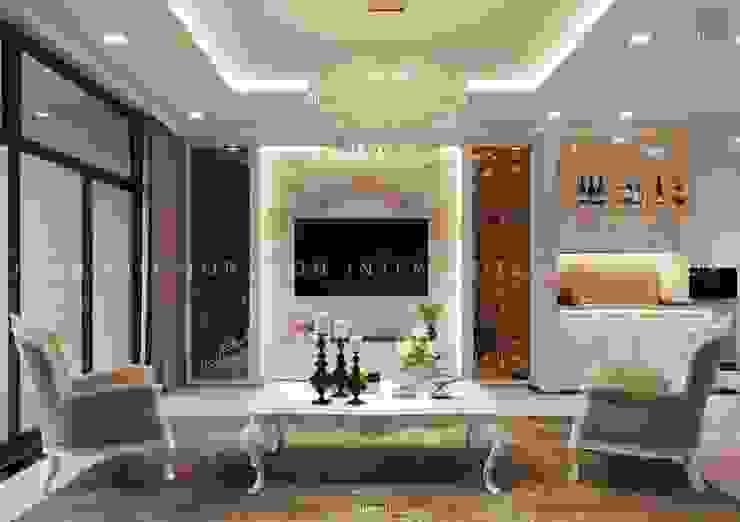 Thiết kế nội thất phong cách TÂN CỔ ĐIỂN cùng căn hộ Vinhomes Central Park Phòng khách phong cách kinh điển bởi ICON INTERIOR Kinh điển